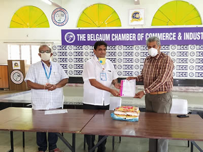 The Belgaum Chambers of Commerce and Industries handed Ration with 1,30,000/-